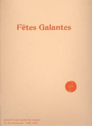 Fêtes galantes - DEBUSSY - Partition - Mélodies - laflutedepan.com