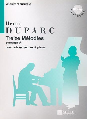 13 Mélodies. Voix Moyenne - Henri Duparc - laflutedepan.com