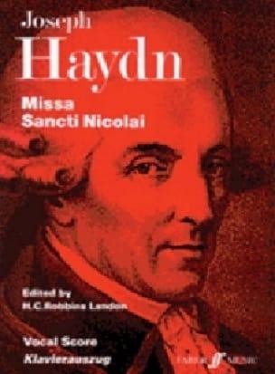 Missa Sancti Nicolai Hob 22-6 - HAYDN - Partition - laflutedepan.com