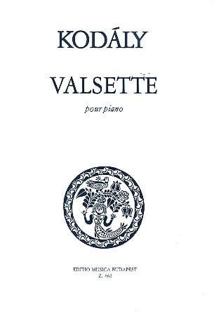 Valsette - KODALY - Partition - Piano - laflutedepan.com
