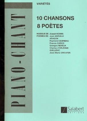 Joseph Kosma - 10 Songs, 8 Poets - Partition - di-arezzo.co.uk