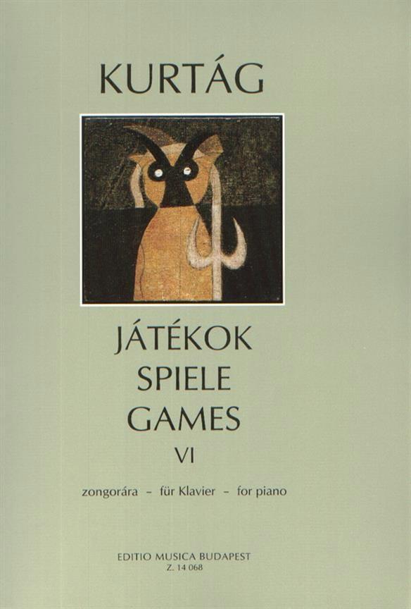 György Kurtag - Jatekok Volume 6 - Partition - di-arezzo.co.uk
