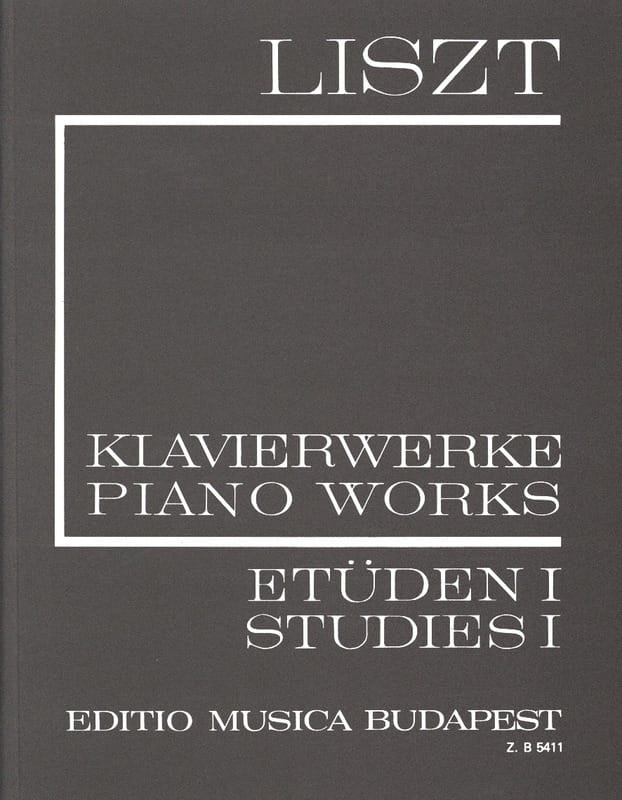 Franz Liszt - Studies, Volume 1 Series 1, Volume 1 - Partition - di-arezzo.co.uk