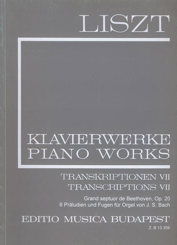 Transcriptions, Volume 7 Série 2, Volume 22 - LISZT - laflutedepan.com