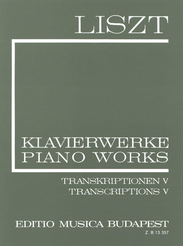 Franz Liszt - Various Transcripts Series 2, Volume 20 - Partition - di-arezzo.co.uk