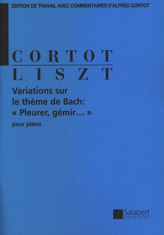 Variations sur un thème de Bach - LISZT - Partition - laflutedepan.com