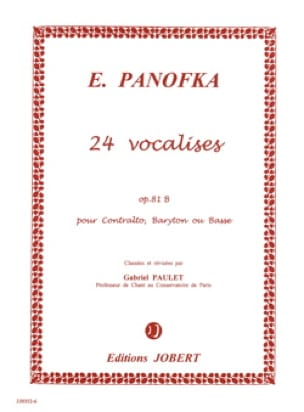 Heinrich Panofka - 24 Progressive Vocalises, Opus 81b N ° 2 - Partition - di-arezzo.co.uk