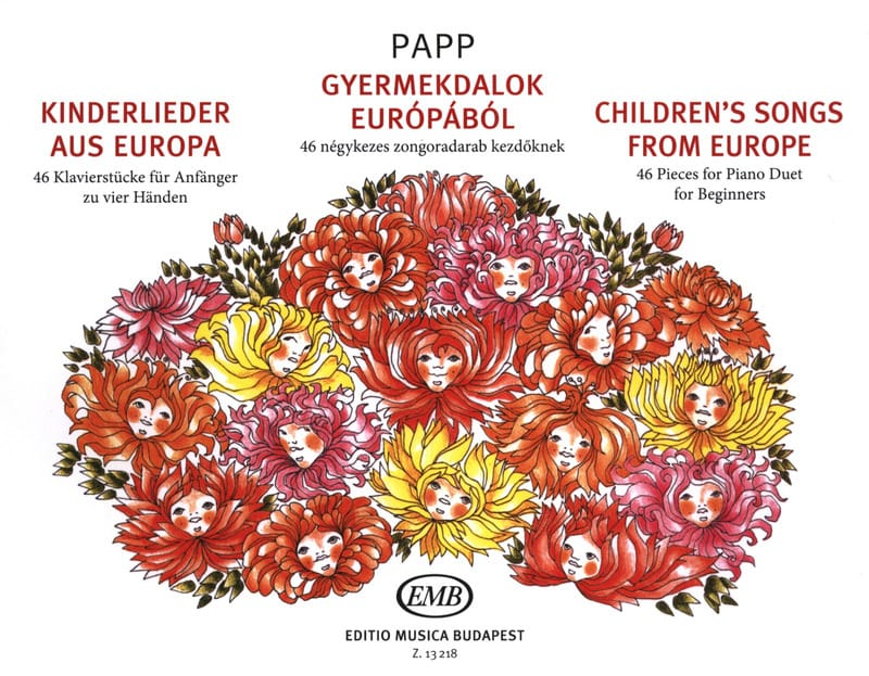 Lajos Papp - Children's Songs From Europe. 4 Hands - Partition - di-arezzo.co.uk