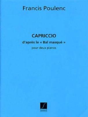 Francis Poulenc - Capriccio for 2 Pianos - Partition - di-arezzo.co.uk