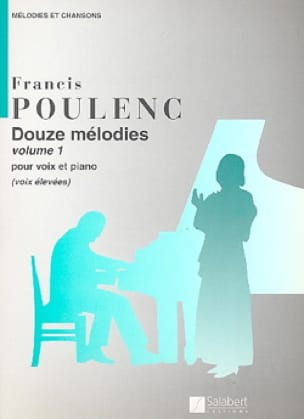 Francis Poulenc - 12 Melodies. Aloud - Partition - di-arezzo.co.uk