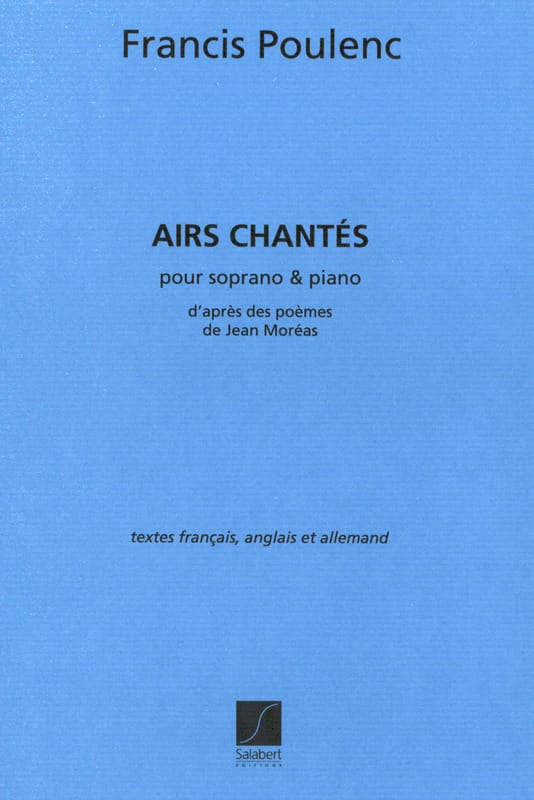 Francis Poulenc - 4 Sung tunes - Partition - di-arezzo.co.uk