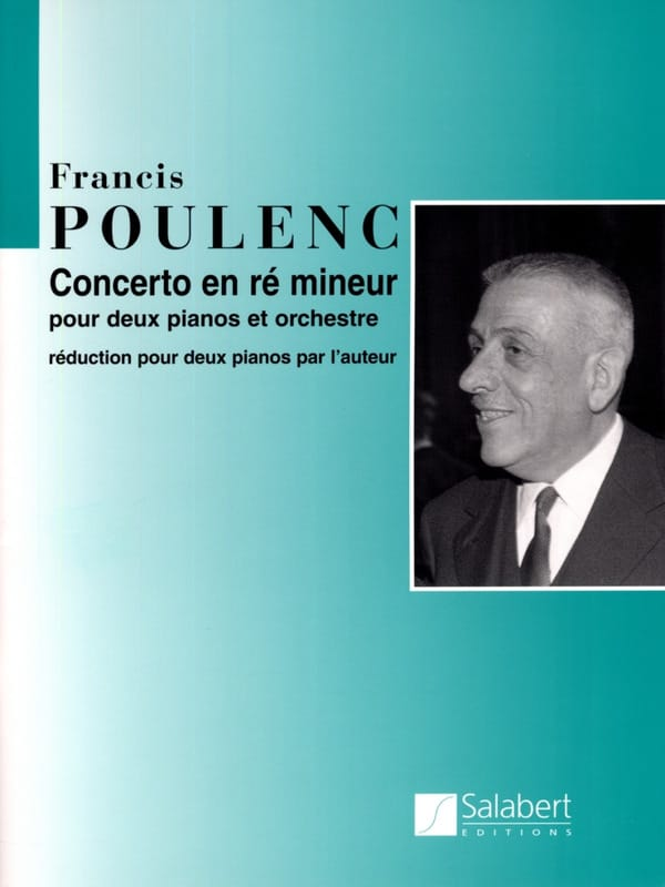Francis Poulenc - Concerto For 2 Pianos In D Minor - Partition - di-arezzo.co.uk
