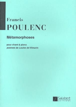 Francis Poulenc - metamorphoses - Partition - di-arezzo.co.uk