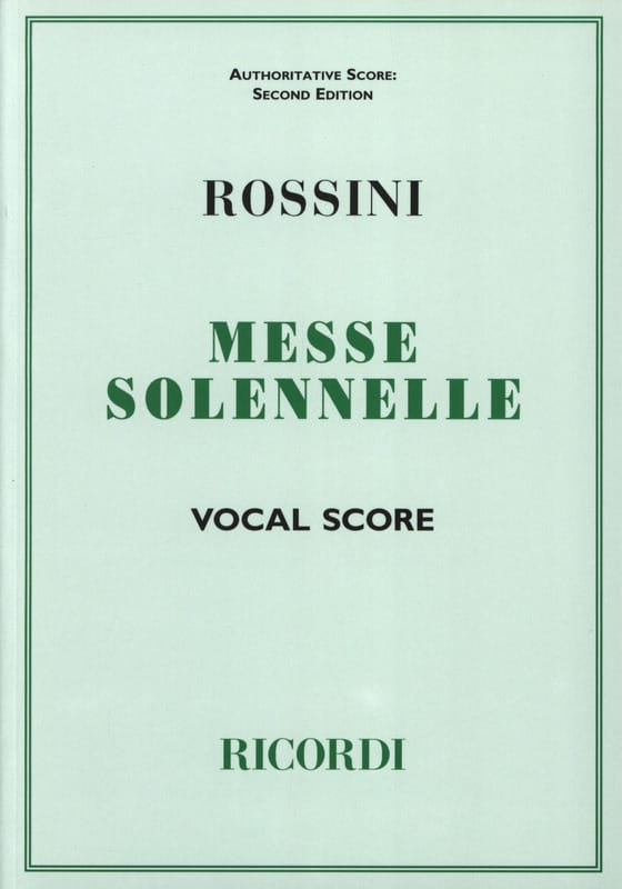 Gioachino Rossini - Small Solemn Mass - Partition - di-arezzo.com