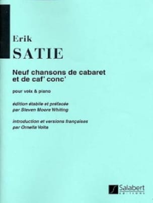 Erik Satie - 9 Cabaret and coffee songs - Partition - di-arezzo.com
