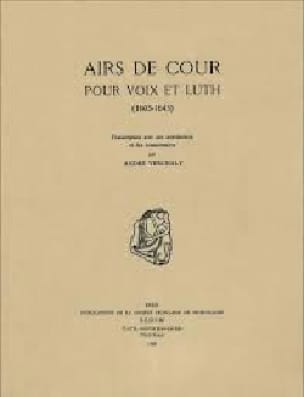 Airs de cour Voix et Luth - Partition - Luth - laflutedepan.com