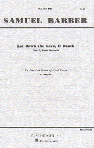 Samuel Barber - Let's go to the bars, O Death - Partition - di-arezzo.co.uk