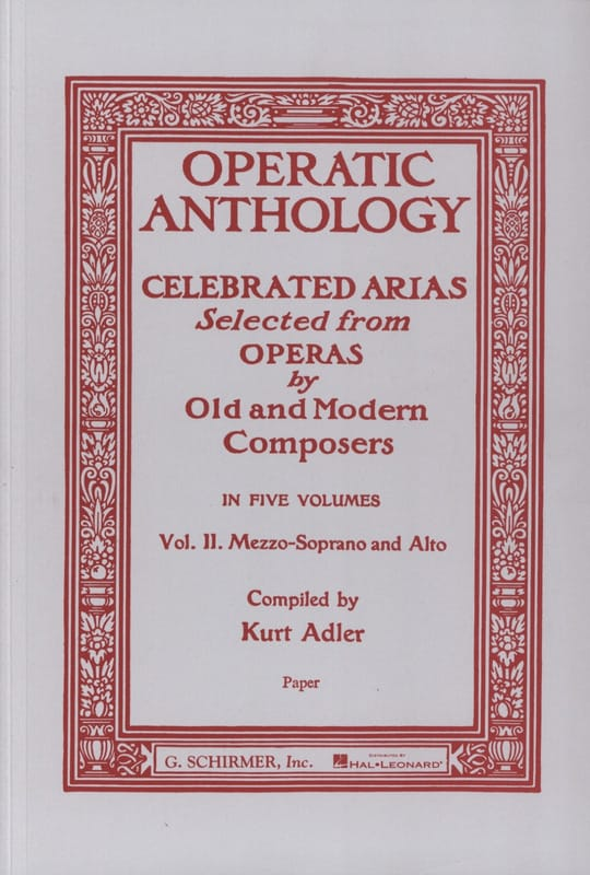 Operatic Anthology Volume 2 Mezzo - Partition - laflutedepan.com