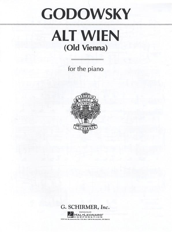 Alt Wien - GODOWSKY - Partition - Piano - laflutedepan.com