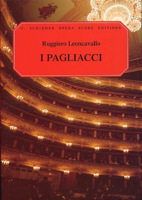 Ruggiero Leoncavallo - Pagliacci - Partition - di-arezzo.co.uk
