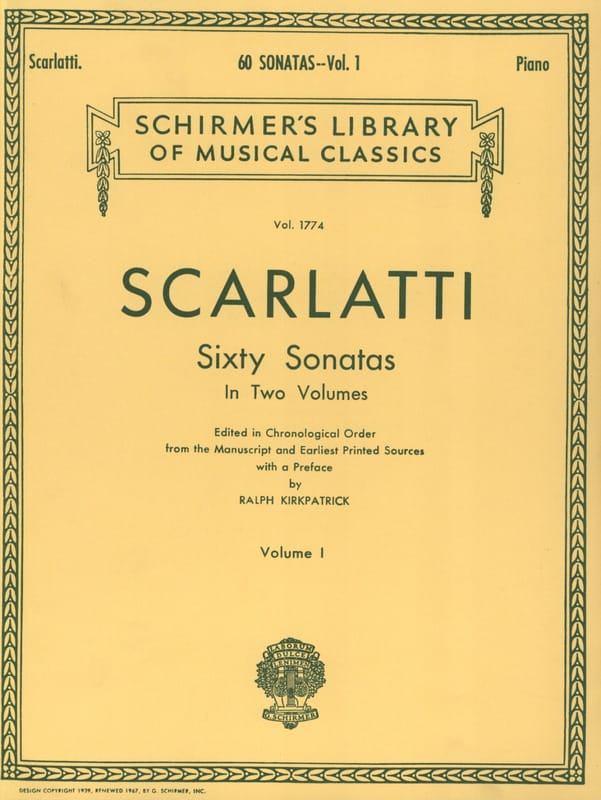 Domenico Scarlatti - 60 Sonatas. Volume 1 - Partition - di-arezzo.co.uk