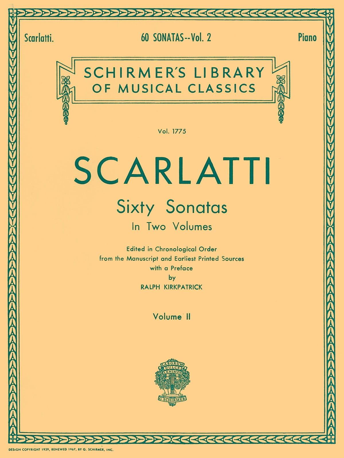 Domenico Scarlatti - 60 Sonatas Volume 2 - Partition - di-arezzo.co.uk