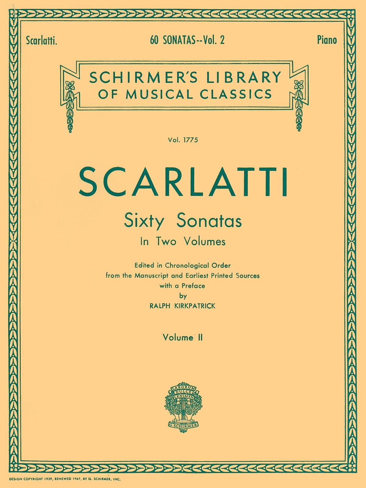Domenico Scarlatti - 60 Sonatas Volumen 2 - Partition - di-arezzo.es