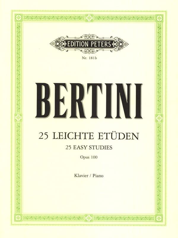 Henri Bertini - Opus 100 studies - Partition - di-arezzo.com