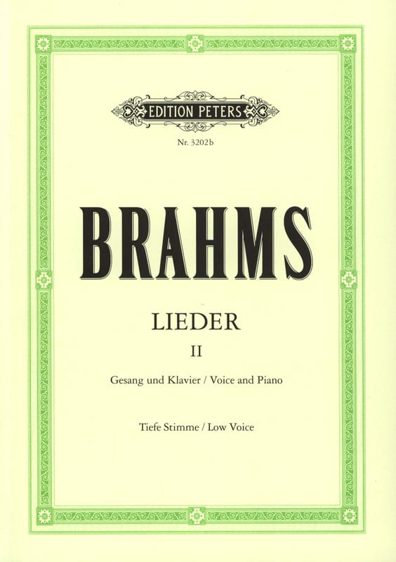 BRAHMS - Lieder Volume 2. Serious Voice - Partition - di-arezzo.com
