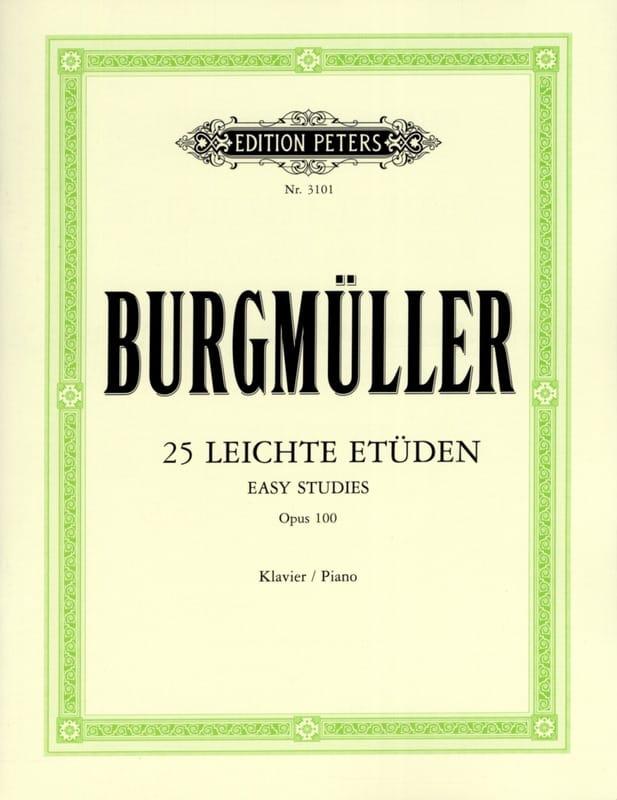 Frédéric Burgmuller - 25 Leichte Etüden Opus 100 - Partition - di-arezzo.co.uk