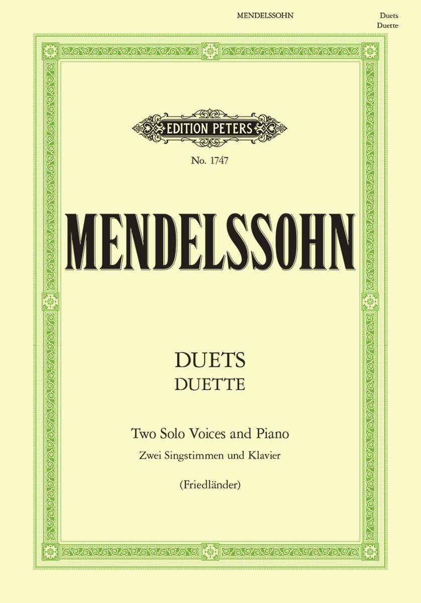 MENDELSSOHN - Duette. 19 Duos - Partition - di-arezzo.co.uk