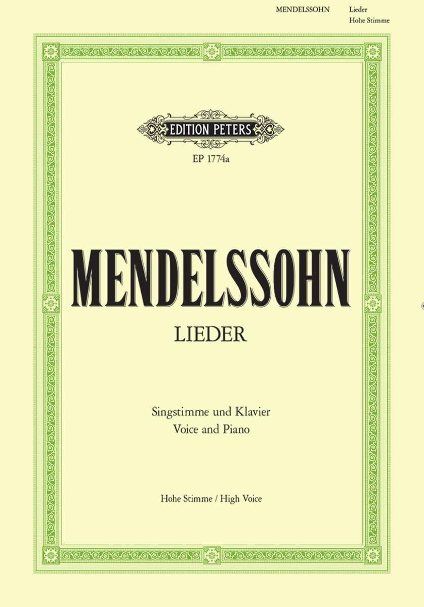 MENDELSSOHN - Sämtliche Lieder. Voix Haute - Partition - di-arezzo.fr