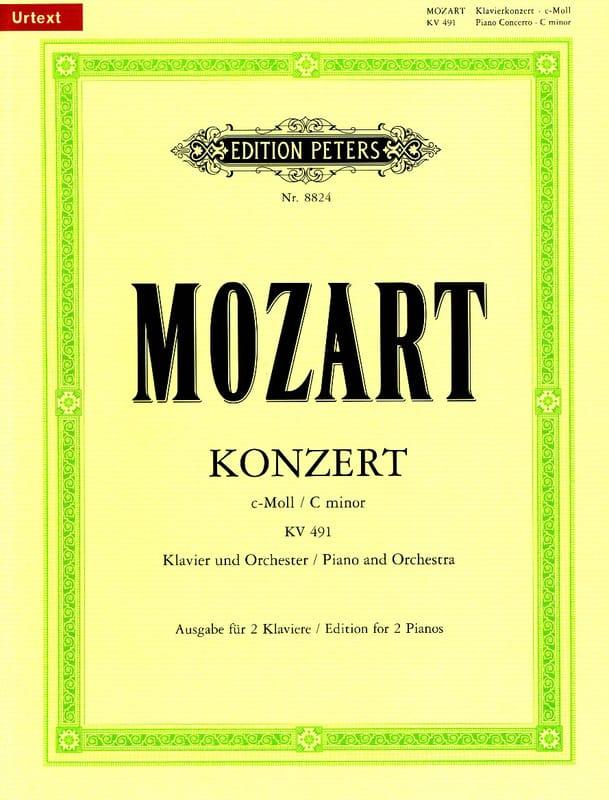 MOZART - Piano Concerto No. 24 In C Minor K 491 - Partition - di-arezzo.com