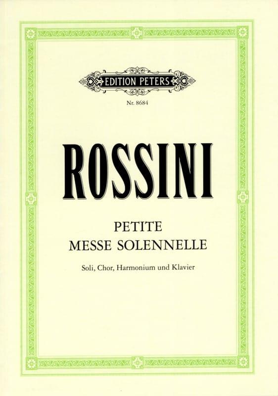 Gioachino Rossini - Petite Messe Solennelle - Partition - di-arezzo.fr