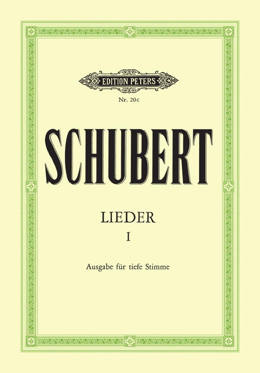 SCHUBERT - Lieder Volume 1 - Voix Grave - Partition - di-arezzo.fr