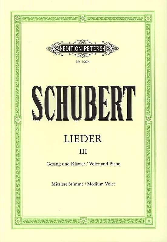 Lieder Volume 3 - Voix Moyenne - SCHUBERT - laflutedepan.com