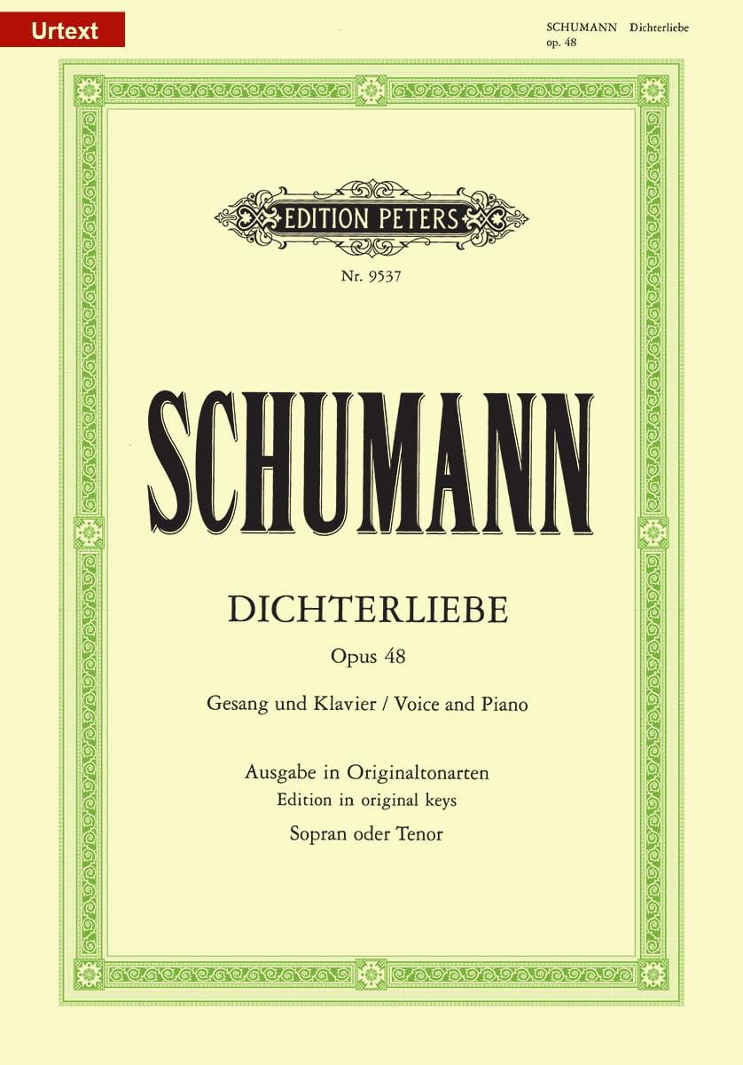 SCHUMANN - Dichterliebe Opus 48. High Voice - Partition - di-arezzo.co.uk