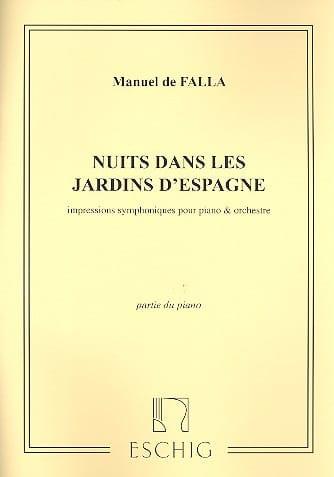 DE FALLA - Noches en Los Jardines de España. Solo Piano - Partition - di-arezzo.es