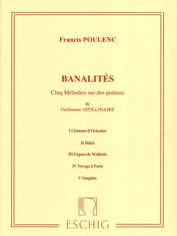 Francis Poulenc - small talk - Partition - di-arezzo.co.uk