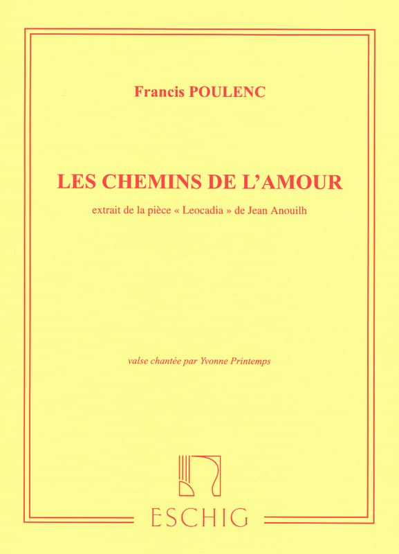Francis Poulenc - The paths of love - Partition - di-arezzo.com