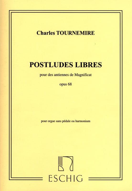 Postludes Libres Opus 68. - Charles Tournemire - laflutedepan.com