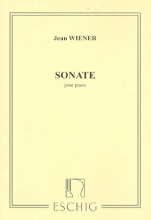 Jean Wiener - Sonata - Partition - di-arezzo.co.uk