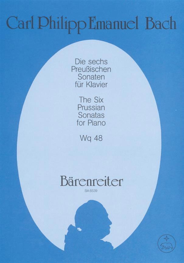 Carl-Philipp Emanuel Bach - Die 6 Prüssischen Sonaten Für Klavier Wq 48 - Partition - di-arezzo.com