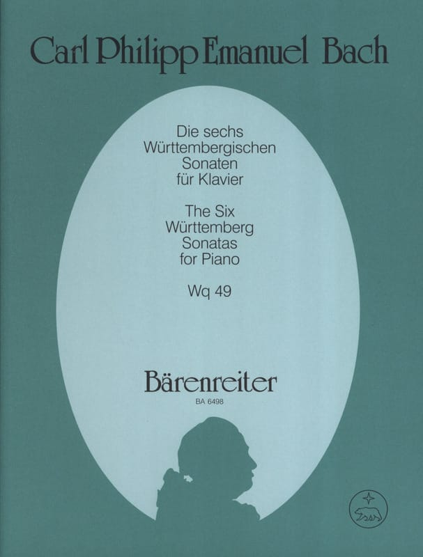 Carl-Philipp Emanuel Bach - Die 6 Württembergischen Sonaten Wq 49 - Partition - di-arezzo.com