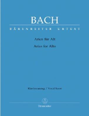 BACH - Das Arienbuch / The Aria Book. Alto - Partition - di-arezzo.com