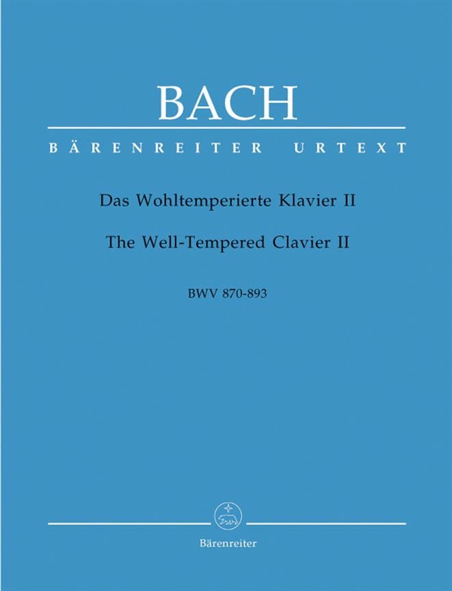 BACH - The Well Tempered Keyboard - Volume 2 - Partition - di-arezzo.com