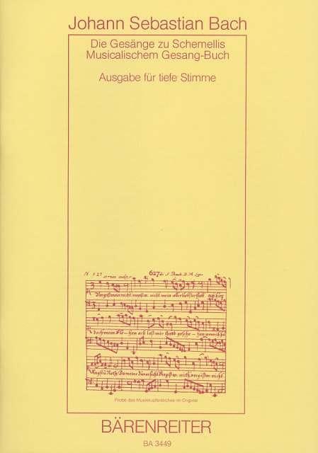 BACH - Die Gesänge zu G.Chr.Schemellis Gesangbuch BWV 439-507 and 6 Lieder aus dem Klav - Partition - di-arezzo.com