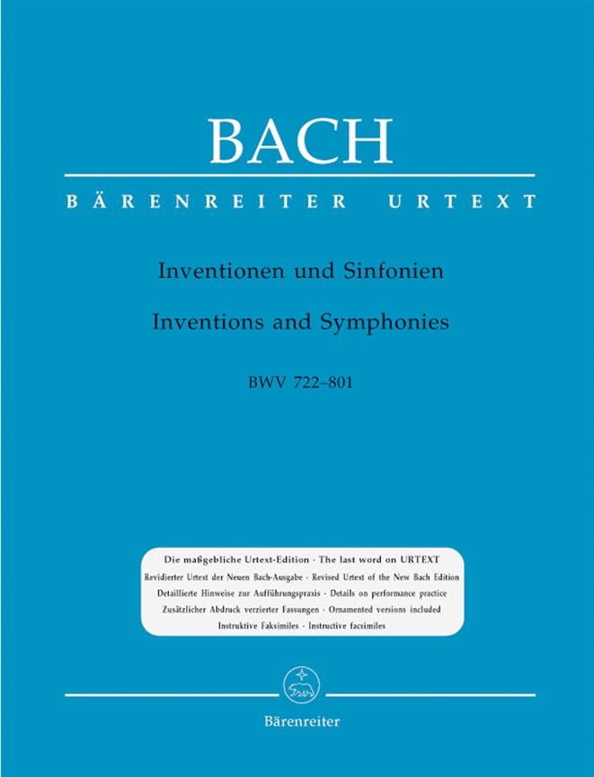 BACH - Inventions A 2 And 3 Voices - Partition - di-arezzo.co.uk