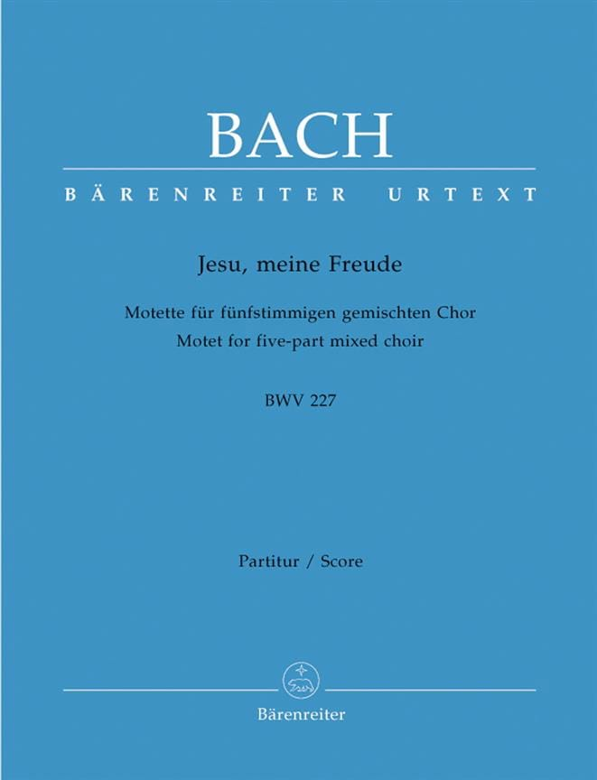 BACH - Motet No. 3. Jesu, Meine Freude BWV 227 - Partition - di-arezzo.co.uk