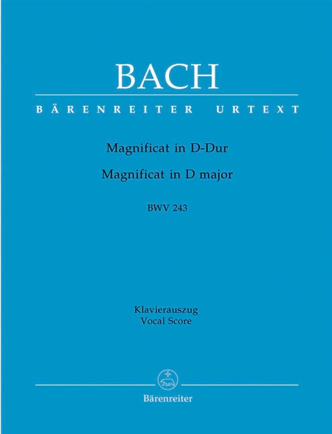 BACH - Magnificat in D Major - Partition - di-arezzo.co.uk